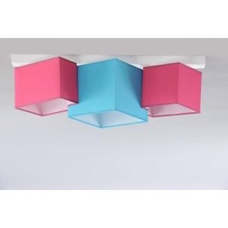 NAMAT 3760 | N3K-Puzzle Namat stropné svietidlo 3x E27 biela, tyrkysová, ružové