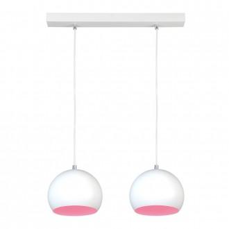 NAMAT 3845 | Luna Namat visiace svietidlo 2x E27 biela, ružová