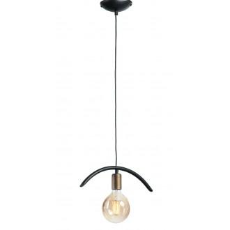 NAMAT 3899 | FalaNa Namat visiace svietidlo 1x E27 matná čierna, starožitná zlata