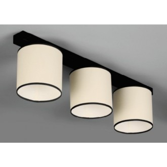NAMAT 647 | Kada Namat stropné svietidlo 3x E27 čierna, krémové