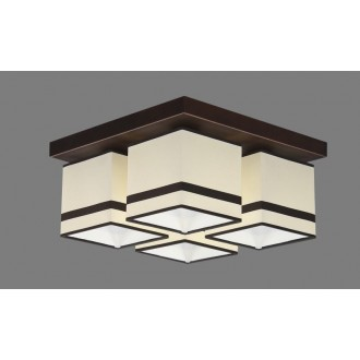 NAMAT 711/2 | Furia Namat stropné svietidlo 4x E27 biela, hnedá