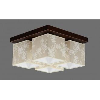 NAMAT 711/8 | Furia Namat stropné svietidlo 4x E27 hnedá, viacferebné, biela