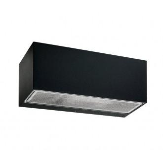NORLYS 1305B | Asker Norlys stenové svietidlo 1x E27 IP65 čierna, morené