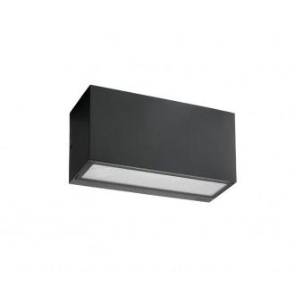 NORLYS 1514B   Asker Norlys stenové svietidlo 1x E27 IP65 čierna, morené