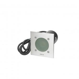 NORLYS 1555ST | Rena-NO Norlys zabudovateľné svietidlo 130x85mm 1x GU10 375lm 3000K IP68 chrom, matné