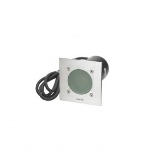 NORLYS 1557ST | Rena-NO Norlys zabudovateľné svietidlo 130x130mm 1x GU10 IP68 chrom, matné