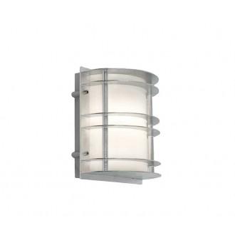 NORLYS 1600GA | Stockholm-NO Norlys stenové svietidlo 1x LED 800lm 3000K IP54 sivé, opál