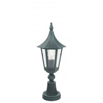 NORLYS 250BG | Rimini Norlys stojaté svietidlo 47cm 1x E27 IP54 antická čierna, zelená, priesvitné