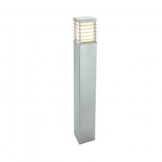 NORLYS 296GA | Halmstad Norlys stojaté svietidlo 85cm 1x E27 IP65 sivé, opál