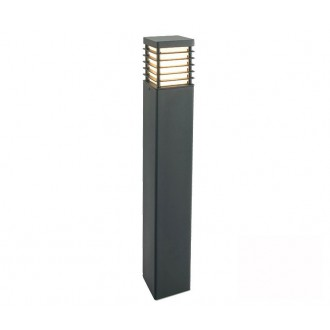 NORLYS 296GR | Halmstad Norlys stojaté svietidlo 85cm 1x E27 IP65 grafit, opál