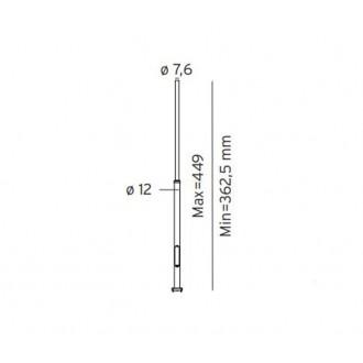 NORLYS 3006GR | Pillar-NO Norlys stĺp svietidla doplnok nastaviteľná výška IP65 grafit