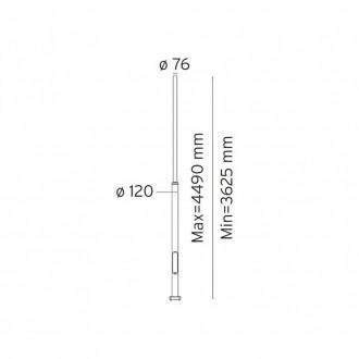 NORLYS 3007AL | Pillar-NO Norlys stĺp svietidla doplnok nastaviteľná výška IP65 hliník