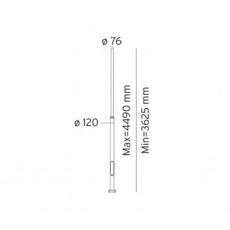 NORLYS 3007GR | Pillar-NO Norlys stĺp svietidla doplnok nastaviteľná výška IP65 grafit