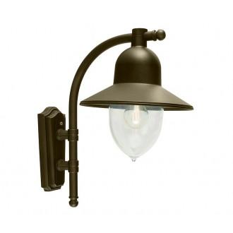 NORLYS 370BD | Como-NO Norlys rameno stenové svietidlo 1x E27 IP54 antická čierna, zlatý, priesvitné