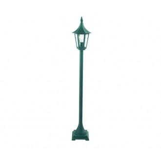 NORLYS 404BG | Rimini Norlys stojaté svietidlo 114cm 1x E27 IP54 antická čierna, zelená, priesvitné
