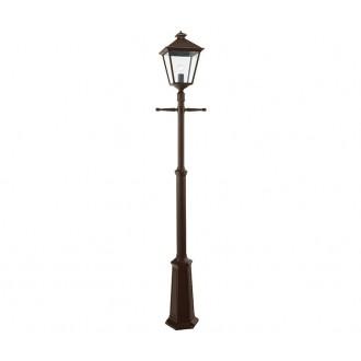 NORLYS 491BC | London-NO Norlys stojaté svietidlo 191cm nastaviteľná výška 1x E27 IP54 antická čierna, meď - medené, priesvitné