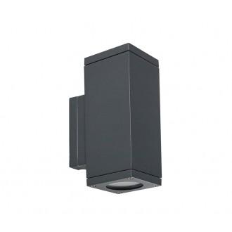 NORLYS 792GR | Sandvik Norlys rameno stenové svietidlo 2x GU10 265lm 2700K IP65 grafit