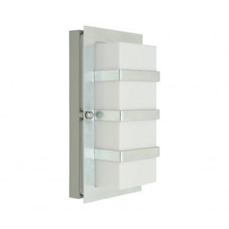 NORLYS 860GA | Boden Norlys stenové svietidlo 1x E27 IP54 sivé, opál, priesvitné