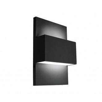 NORLYS 874B | Geneve Norlys stenové svietidlo 1x E27 IP54 čierna, saténový