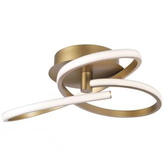 NOVA LUCE 1701101004 | Fusion-NL Nova Luce stropné svietidlo 1x LED 3017lm 3000K mosadz, biela