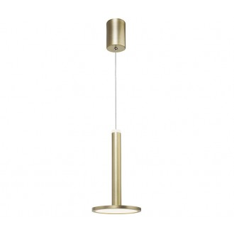 NOVA LUCE 1703301201 | Palencia Nova Luce visiace svietidlo 1x LED 414lm 3000K mosadz