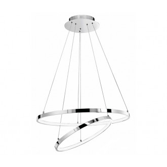NOVA LUCE 17222003D | Aria-NL Nova Luce visiace svietidlo 1x LED 4500lm 3000K chróm