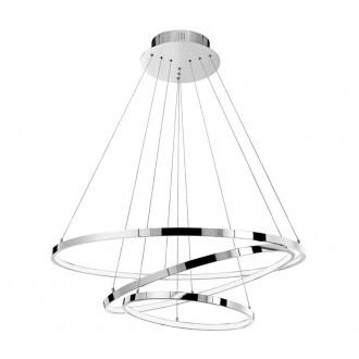 NOVA LUCE 17222004D | Aria-NL Nova Luce visiace svietidlo 1x LED 8100lm 3000K chróm