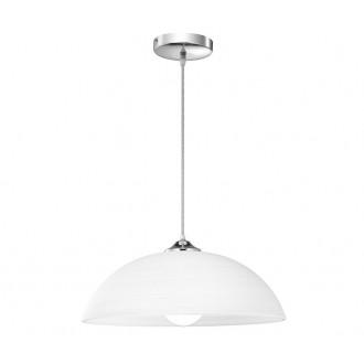 NOVA LUCE 600822 | Prego-NL Nova Luce visiace svietidlo kruhový 1x E27 biela, chróm