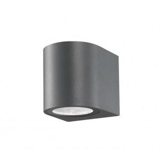 NOVA LUCE 710021 | Nero-NL Nova Luce rameno stenové svietidlo 1x GU10 IP54 tmavošedá