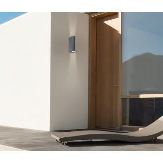 NOVA LUCE 710022 | Nero-NL Nova Luce rameno stenové svietidlo 2x GU10 IP54 tmavošedá
