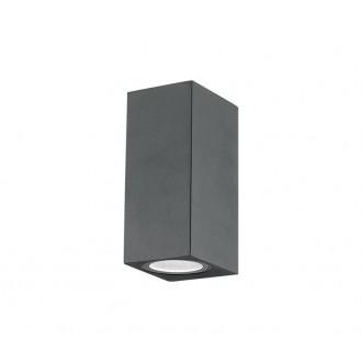 NOVA LUCE 710042 | Nero-NL Nova Luce stenové svietidlo 2x GU10 IP54 tmavošedá