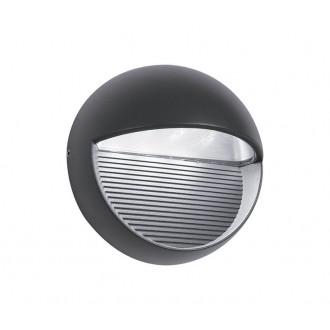 NOVA LUCE 710446 | Down Nova Luce stenové svietidlo 1x LED 480lm 3000K IP54 tmavošedá