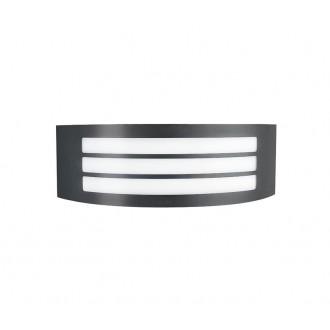 NOVA LUCE 713113 | Zenith Nova Luce stenové, stropné svietidlo 1x E27 IP44 tmavošedá, biela