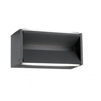 NOVA LUCE 713122 | Twin-NL Nova Luce rameno stenové svietidlo otočné prvky 2x LED 600lm 3000K IP54 tmavošedá