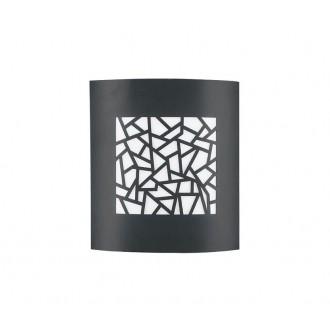 NOVA LUCE 713212 | Zenith Nova Luce stenové, stropné svietidlo 1x E27 IP44 tmavošedá, biela
