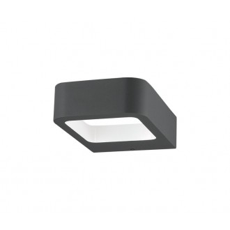 NOVA LUCE 713312 | Acqua-NL Nova Luce rameno stenové svietidlo 1x LED 320lm 3000K IP54 tmavošedá