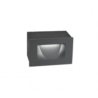 NOVA LUCE 726401 | Krypton Nova Luce zabudovateľné svietidlo 1x LED 270lm 3000K IP54 tmavošedá