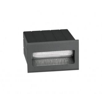 NOVA LUCE 726404 | Krypton Nova Luce zabudovateľné svietidlo 1x LED 145lm 3000K IP54 tmavošedá