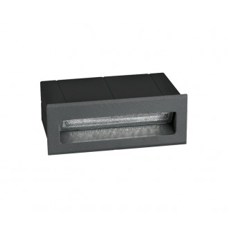 NOVA LUCE 726406 | Krypton Nova Luce zabudovateľné svietidlo 1x LED 270lm 3000K IP54 tmavošedá