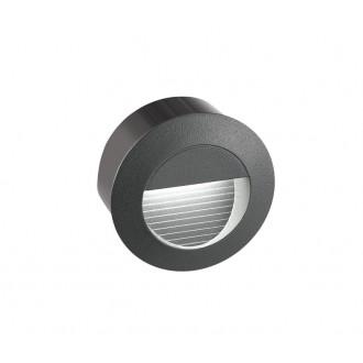 NOVA LUCE 726407 | Krypton Nova Luce zabudovateľné svietidlo Ø80mm 1x LED 270lm 3000K IP54 tmavošedá