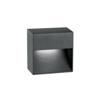 NOVA LUCE 726408 | Down Nova Luce stenové svietidlo 1x LED 270lm 3000K IP54 tmavošedá