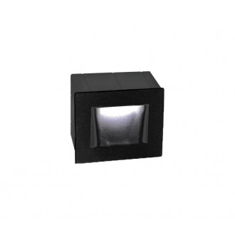 NOVA LUCE 727002 | Krypton Nova Luce zabudovateľné svietidlo 1x LED 270lm 3000K IP54 tmavošedá