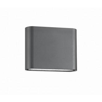 NOVA LUCE 740401 | Soho-NL Nova Luce stenové svietidlo 2x LED 480lm 3000K IP54 tmavošedá