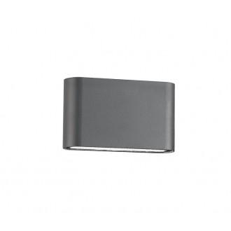NOVA LUCE 740404 | Soho-NL Nova Luce stenové svietidlo 2x LED 800lm 3000K IP54 tmavošedá