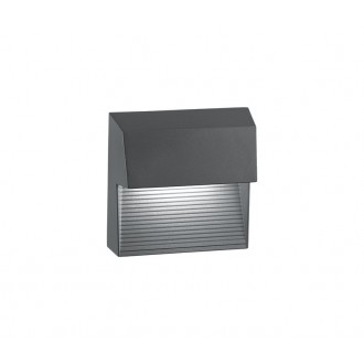 NOVA LUCE 752250 | Down Nova Luce stenové svietidlo 1x LED 480lm 3000K IP54 tmavošedá