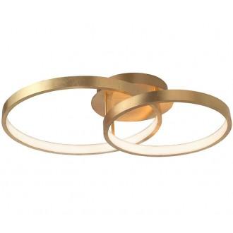 NOVA LUCE 8100282 | Leon-NL Nova Luce visiace svietidlo 1x LED 2650lm 3000K zlatý, biela