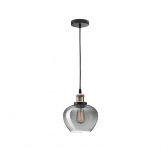 NOVA LUCE 8436403 | Cedro Nova Luce visiace svietidlo 1x E27 dym, bronzová, čierna