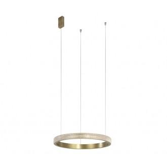 NOVA LUCE 86016804 | Orlando-NL Nova Luce visiace svietidlo 1x LED 1020lm 3000K antická bronzováová, priesvitné