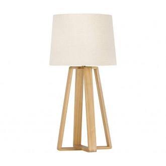 NOVA LUCE 8700302 | Derek-NL Nova Luce stolové svietidlo 37,5cm prepínač 1x E27 biela, drevo