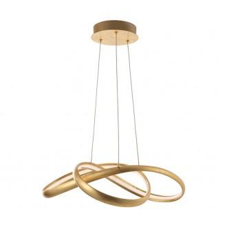 NOVA LUCE 9002602 | Ross Nova Luce visiace svietidlo 1x LED 2160lm 3000K zlatý, biela